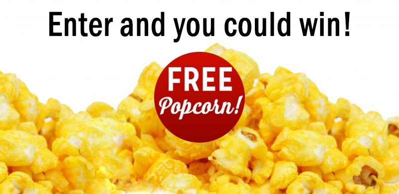 Do you have a business card? You could win free popcorn!